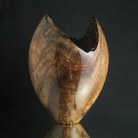 Gunmetal Maple Natural Vase
