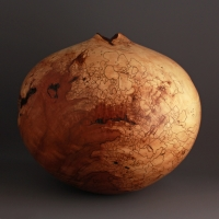 Large Spalted Dogwood Hollow Form