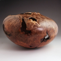Off Balance Red Maple Burl Hollow Form