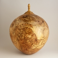Spalted Red Maple Burl Companion Urn