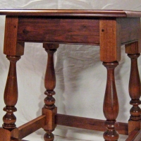 Reproduction Perquimans <br>Joint Stool <br>Black Walnut