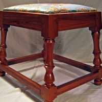 Vanity Stool <br>Black Cherry