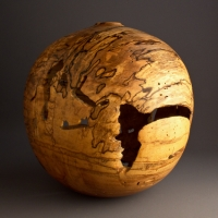 Spalted Wormy Red Maple Hollow Form - $670.00