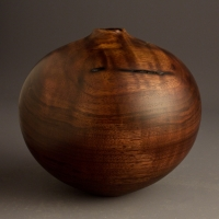 Small Curly Walnut Hollow Form - $110.00