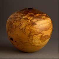 Small Spalted Elm Hollow Form - $110.00