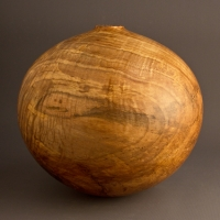 Natural Curly Maple Hollow Form - $320.00
