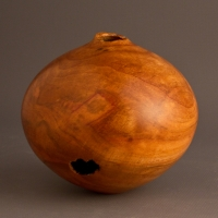 Small Natural Plum Hollow Form - $90.00