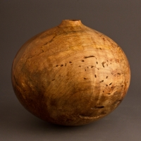 Small Wormy Maple Hollow - $150.00