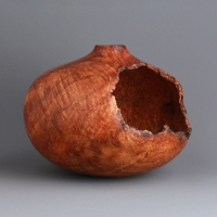 Small Voided Oak Burl Hollow - $130.00