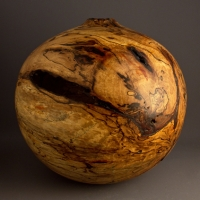 Ben Owen III Large Spalted Wormy Pecan Hollow - $980.00