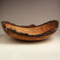 Figured Natural Maple Lapbowl - SOLD