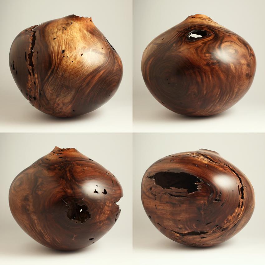 Wormy Walnut Off Balance Hollow - $720.00