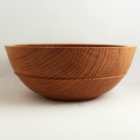 Large Quartersawn White Oak Utility Bowl - $140.00