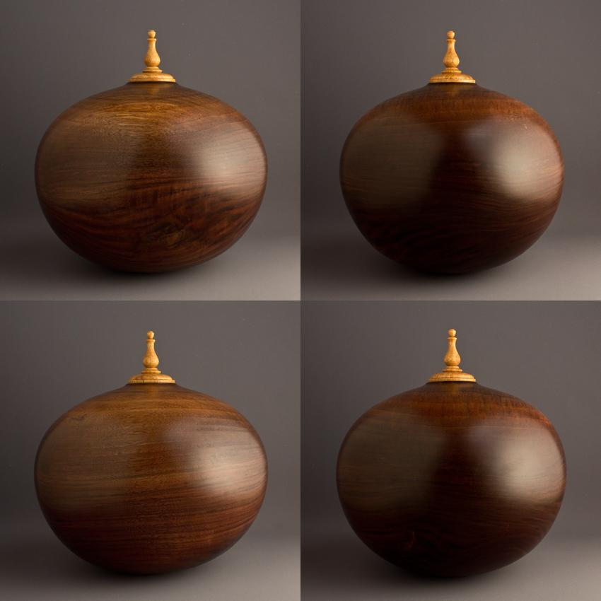 Black Walnut Cremation Urn, 180 ci - $830.00