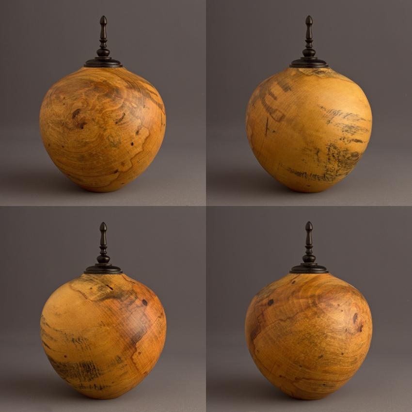 Drane Spalted Magnolia Keepsake Urn, 25 ci - $260.00