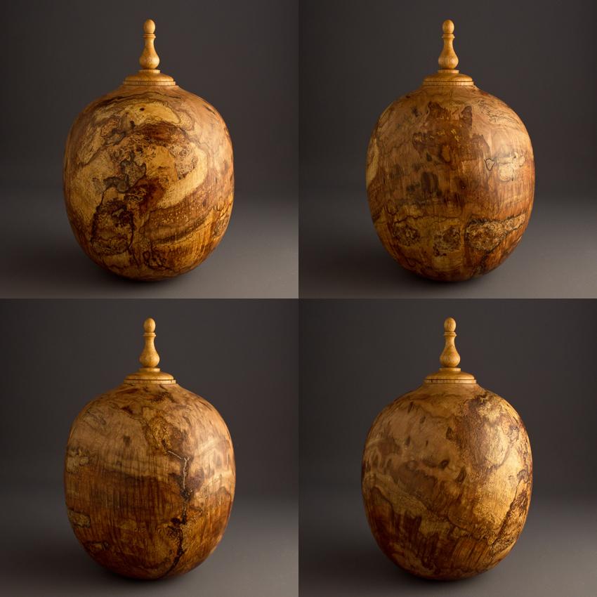 Oak Burl Keepsake Urn, 70 ci - $380.00