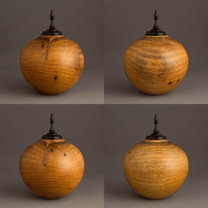 Simple Persimmon Keepsake Urn, 15 ci - $220.00