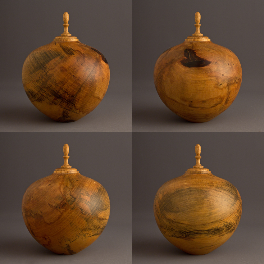 Spalted Drane Magnolia Keepsake Urn, 30 ci - $280.00