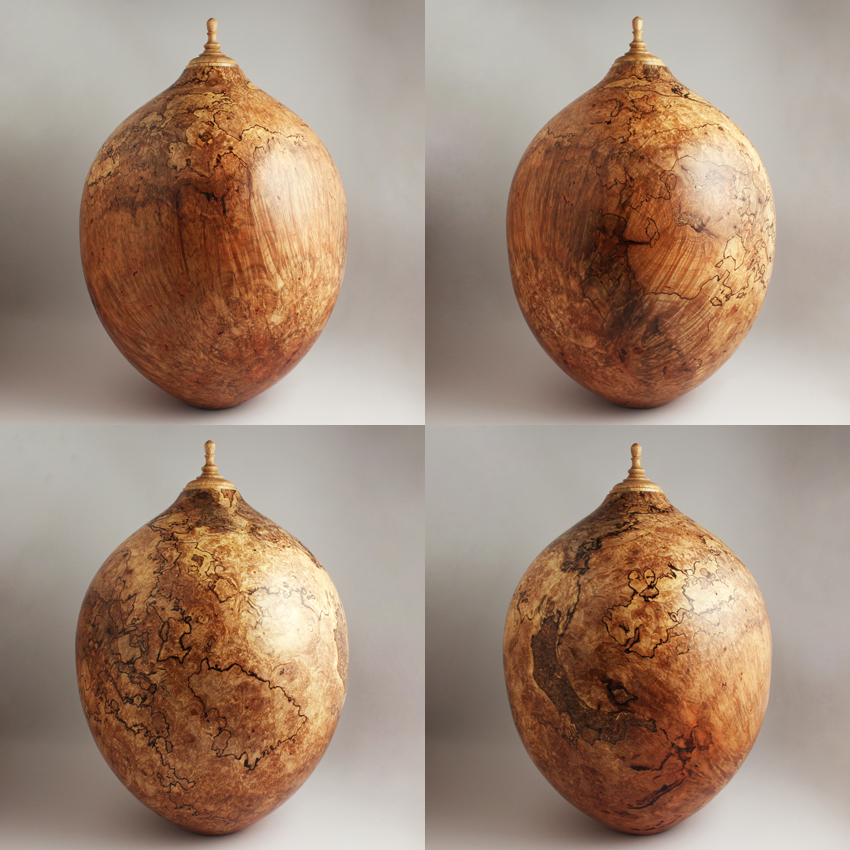 Spalted Maple Burl Companion Urn, 445 ci - $3780.00