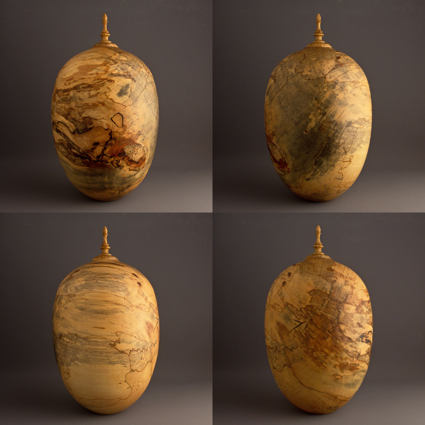 Spalted Red Maple Cremation Urn, 150 ci - $730.00