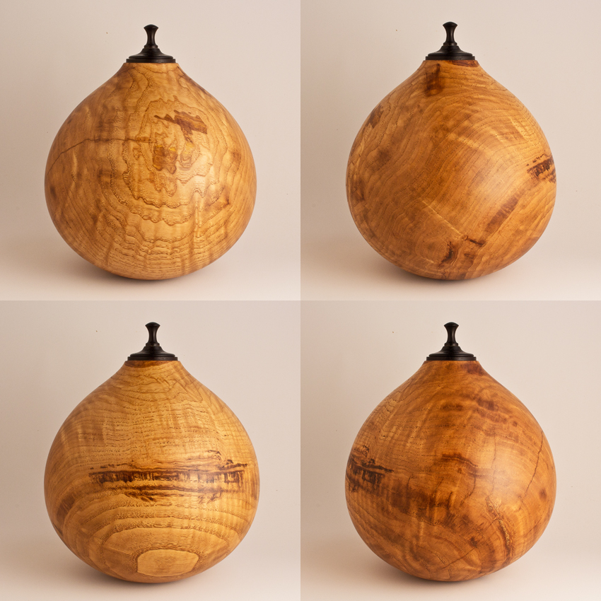 Curly Chinese Chestnut Cremation Urn, 140 ci - $580.00