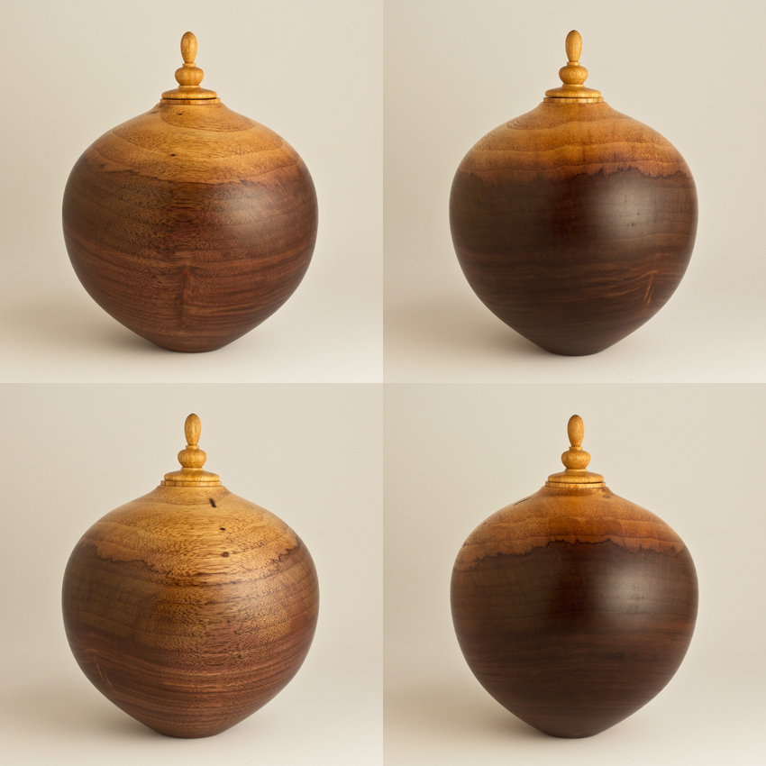 Two Tone Walnut Keepsake Urn, 55 co - $280.00