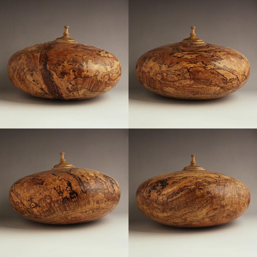 Very Warped Oak Burl Cremation Urn, 170 ci - $700.00