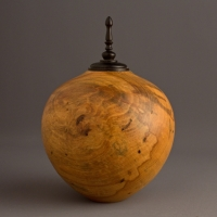 Drane Spalted Magnolia Keepsake Urn, 25 ci - SOLD