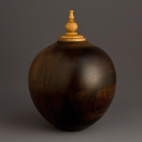 Simple Dark Poplar Keepsake Urn, 25 ci - $230.00