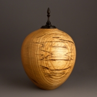 Small Spalted Ash Keepsake Urn, 20 ci - $260.00