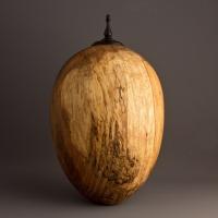 Spalted Elm Cremation Urn, 115 ci - $440.00