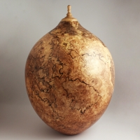 Spalted Maple Burl Companion Urn, 445 ci  - $3780.00