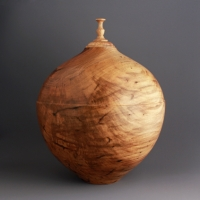 Spalted Maple Relief Urn, 180 ci - $700.00