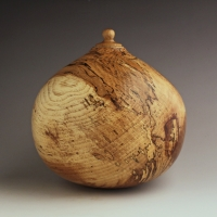 Large Spalted Pecan Urn, 220 ci - $1100.00