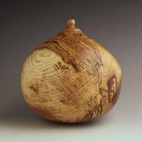Large Spalted Pecan Urn, 220 ci - $1100.00
