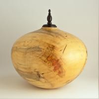 Spalted Box Elder Cremation Urn, 185 ci - $930.00
