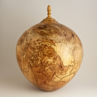 Spalted Red Maple Burl Companion Urn, 280 ci - $2200.00