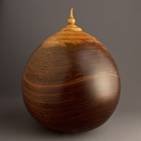 Two Tone Walnut Cremation Urn, 210 ci - $940.00