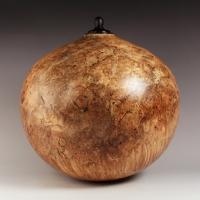 Red Maple Burl Companion Urn, 450 ci - SOLD