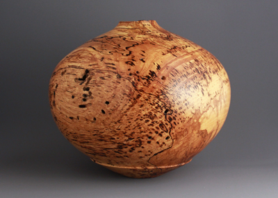 Ben Owen Collection #1 - natural edge spalted pecan hollow form
