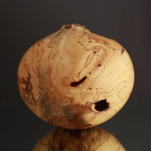 Ben Owen Collection, Off Balance Spalted Ultra Gloss Hollow Form - bo.2