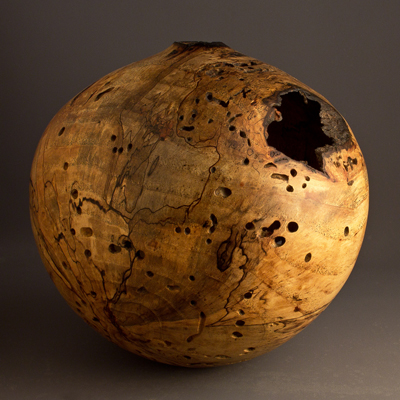 Ben Owen III Natural Spalted Pecan Hollow Form
