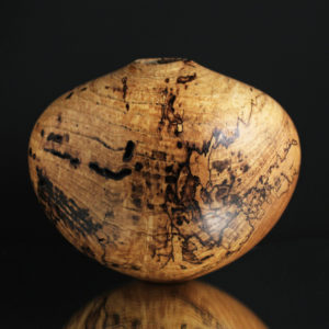 Wormy Spalted Ash Hollow Form