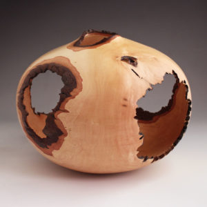 Hollow Heart - Natural Edge Dogwood Hollow Form