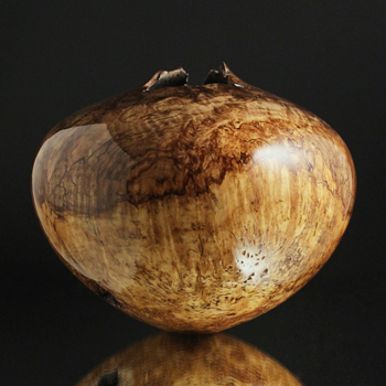 Two Tone Maple Burl Hollow Form