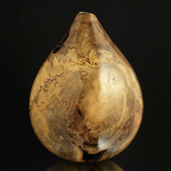 Sculpture for Sale - Ultra Gloss Teardrop Spalted Holly Hollow