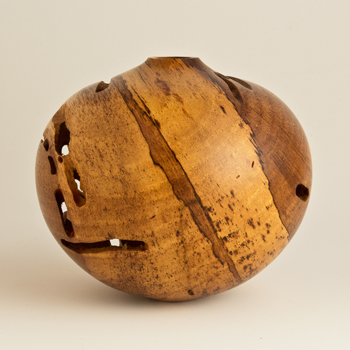 Small Wormy Spalted Persimon Hollow