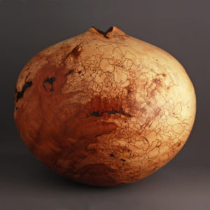 St. Paul's Spalted Natural Dogwood Hollow Form - 394