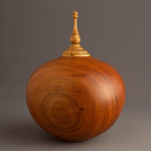 Affordable Cremation Urn in Black Cherry