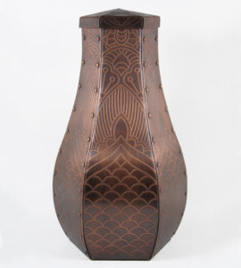 Cremation Urn Art - John Greco Copper Urn